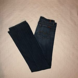 7FAM EUC bootcut medium wash size 28